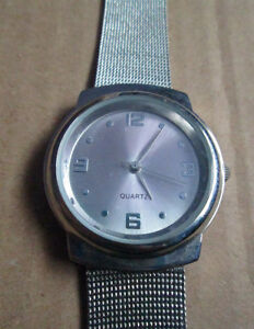 Unisex Chatelaine Silver Watch - New - Stainless Steel - Quartz