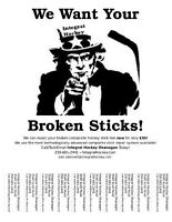 Broken Hockey Sticks Wanted!