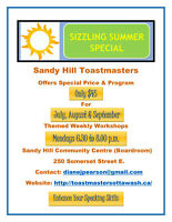 ENHANCE YOUR SPEAKING SKILLS @ Sandy Hill Toastmasters