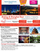 Exclusive Tour Vancouver to Beijing Shanghai w/ Railroad Museum