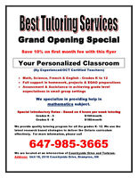 IN HOME Brampton Tutor - Certified, Affordable, and Excellent