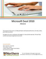 Microsoft Excel all Levels - N. College