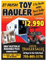 2016 Toy hauler with Travel Trailer Amenities