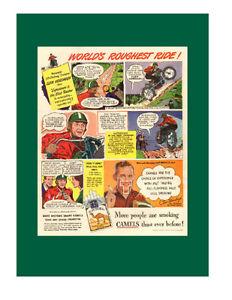 1948 original full-page, color print ad for Camel cigrettes
