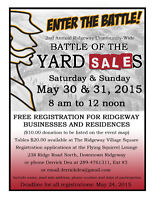 ENTER THE BATTLE OF THE YARD SALES