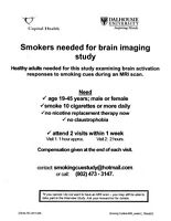 Smokers aged 19-45: Research Study