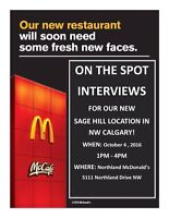 Now hiring for our NEW Sage Hill location in NW Calgary!