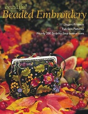 NEW BEAUTIFUL BEADED EMBROIDERY Book Step by Step Instruction Full Size Patterns Bead Embroidery Patterns