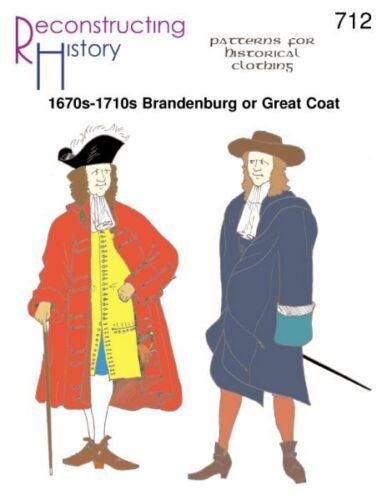 1670S-1710S BRANDENBURG / GREAT COAT-Paper Pattern- RECONSTRUCTING HISTORY 712