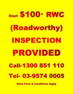 Start $100* Rwc Inspection Provided
