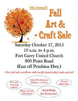 4th ANNUAL FALL ART & CRAFT SALE!