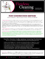 Post Construction Clean up