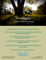 A Perfect Get Away - Host a Group Outing at Five Oaks