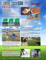 Aeration & Power-rake Weekly Lawn Mowing $38.50