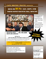 ACDC Rock or BUSt return TRANSPORTATION to/from Concert