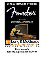 FREE HISTORY OF FENDER CLINIC AT LONG AND MCQUADE