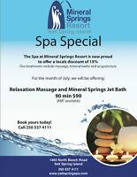 Mineral Springs Resort Spa Package