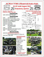 CVMG Montreal 25th Anniversary Vintage Motorcycle Rally