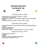Baby boys clothes- info in photo- in Vernon