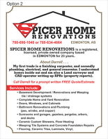SPICER HOME RENOVATIONS.