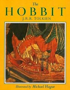 Tolkien-THE-ILLUSTRATED-HOBBIT-ILLUMINATED-BY-MICHAEL-HAGUE-HUGE-SC