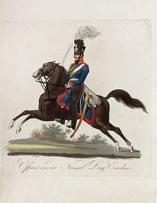 Friedrich Jügel Preußen Dragoner Tschako Kavallerie Uniform Offizier Säbel