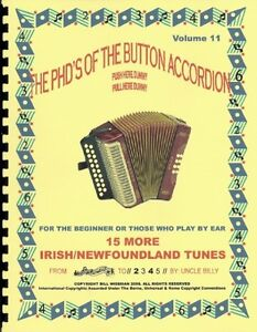 MORE IRISH/NEWFOUNDLAND TUNES, ACCORDION BOOK, PLAY BY # NUMBERS