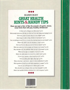 Reader's Digest Great Health Hints & Handy Tips West Island Greater Montréal image 2