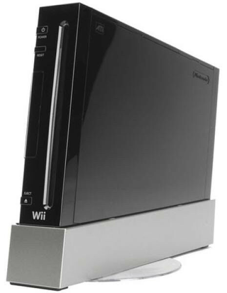 Nintendo wii (black) with power pack/scart lead/1 nunchuck/1