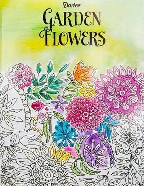 Garden Flowers Coloring Book For Adults 32 Pages Darice 8