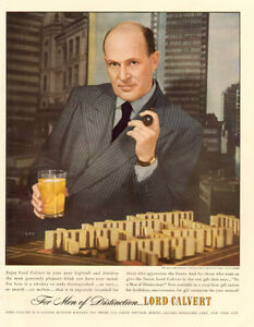 1948 original full-page, color print ad for Lord Calvert