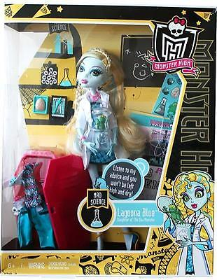 Freaky Fabulous Monster High Lagoona Blue Mad Science Doll New Sealed!