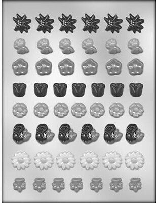 Mini Flower Assortment Chocolate Candy Mold from CK #13066