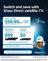 Free Install, $0 HD Receivers,$49 HDPVR-Shaw Direct Satellite TV