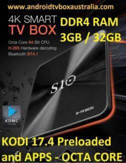 DDR4 3GB/32GB R-TV BOX S10 S912 Android 7.1.2 4K WIFI kodi 17.4