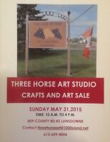 Three Horse Art Studio Crafts and Art Sale