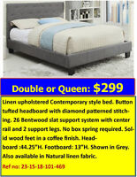 GREAT BUY ON FABRIC UPHOLSTERED BEDS