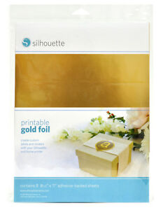 Silhouette Cameo PRINTABLE GOLD & Silver ADHESIVE FOIL