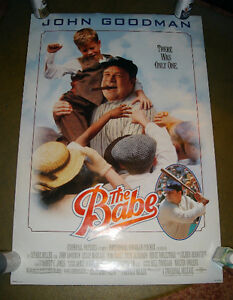 ROLLED 1992 BABE RUTH BASEBALL DS LIGHT BOX MOVIE THEATER POSTER