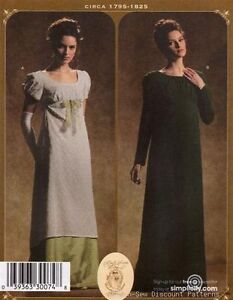 Simplicity-4055-UNCUT-PATTERN-14-20-Regency-Romantic-Dress-Gown-Costume-Titanic