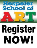 WINTER CLASSES - JANUARY/FEBRUARY 2018: HESPELER SCHOOL OF ART