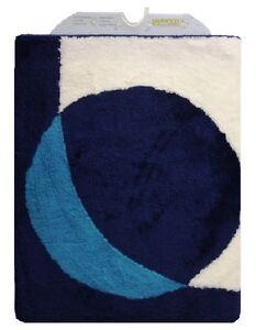 Tappeto Da Bagno Sanwood Punto Turchese E Blu Scuro 60x90 cm. di alta ...