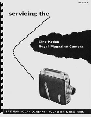 Cine-Kodak Royal Magazine Movie Camera Service & Repair Manual Reprint for sale  Shipping to India