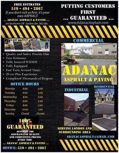 ADANAC ASPHALT & PAVING..... RESIDENTIAL DRIVEWAYS/COMMERCIAL. London Ontario image 1