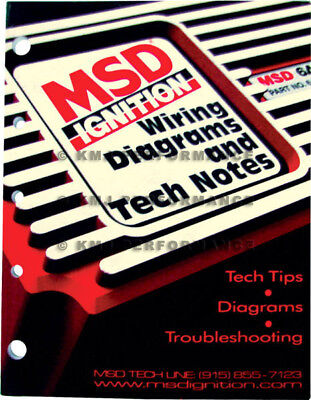 MSD Ignitions 9615 Wiring Diagrams and Tech Notes Manual Book Chevy Ford