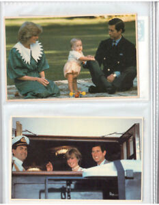 134 cartes postales photos couleurs Famille Royale Britannique .