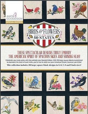Anita Goodesign Embroidery Machine Design CD BIRDS & FLOWERS OF THE 50 STATES