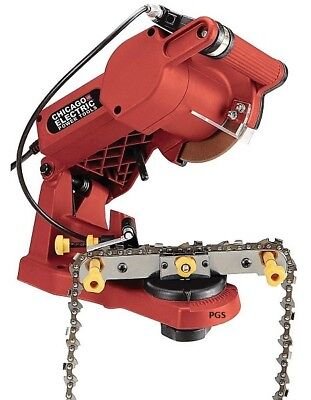 Chicago Electric Chain Saw Sharpener Mounts To a Bench 4200 RPM Grinding New