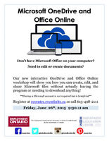 Microsoft OneDrive and Office Online - NEW EEC Workshop!