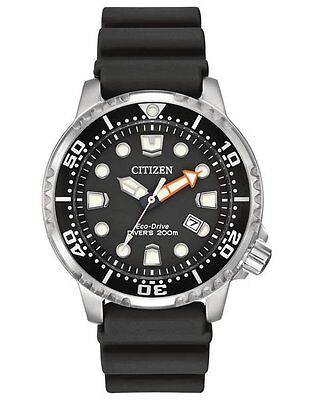 Citizen Eco-Drive Mens BN0150-28E Promaster ISO Dive Black Dial & Strap Watch